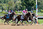 SARATOGA SPRINGS - AUGUST 27: Haveyougoneaway #10, ridden by John Velazquez, wins the Ballerina Stakes on Travers Stakes Day at Saratoga Race Course on August 27, 2016 in Saratoga Springs, New York. (Photo by Dan Heary/Eclipse Sportswire/Getty Images)