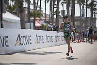 Heather Jackson takes 2nd place in the Accenture Ironman California 70.3 in Oceanside, CA on March 29, 2014.