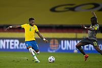 4th June 2021; Beira-Rio Stadium, Porto Alegre, Brazil; Qatar 2022 qualifiers; Brazil versus Ecuador; Fred of Brazil shoots past the attempted block of Enner Valencia of Ecuador