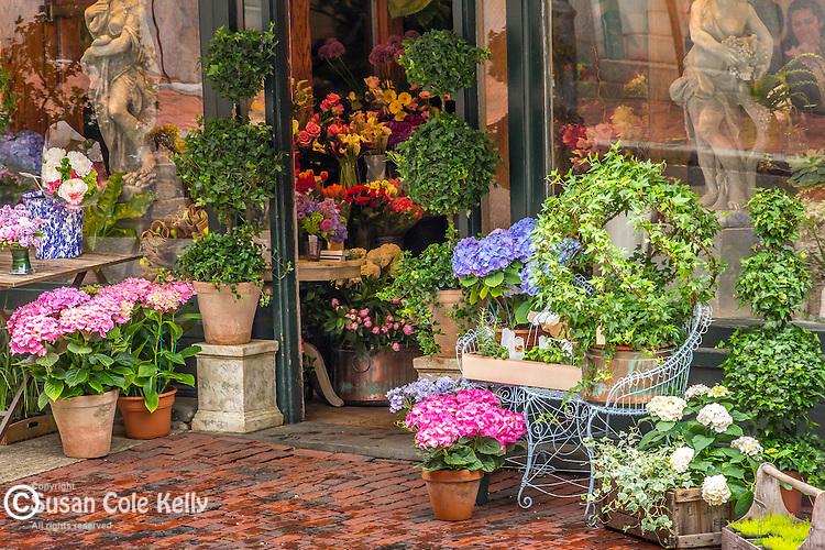 Rouvalis Flowers on Beacon Hill, Boston, Massachusetts, USA