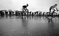racing in the pooring rain<br /> <br /> 2014 Milano - San Remo