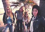 Runaways 1978 Lita Ford, Sandy West, Vicki Blue, Joan Jett..© Chris Walter..