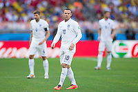 Wayne Rooney of England with Steve Gerrard and Gary Cahill behind