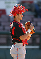 2007:  Rich Prall of the Williamsport Crosscutters, Class-A affiliate of the Philadelphia Phillies, during the New York-Penn League baseball season.  Photo By Mike Janes/Four Seam Images
