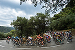 The peloton descend during Stage 1 of Tour de France 2020, running 156km from Nice Moyen Pays to Nice, France. 29th August 2020.<br /> Picture: ASO/Alex Broadway | Cyclefile<br /> All photos usage must carry mandatory copyright credit (© Cyclefile | ASO/Alex Broadway)