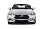 Car photography straight front view of a 2017 Infiniti Q60 Premium 2 Door Coupe Front View