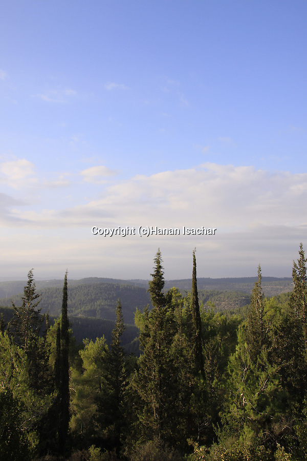 Israel; Jerusalem mountains, a view from Road 395 from Eshtaol to Ein Karem