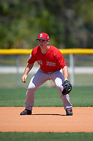 Boston Red Sox Mitchell Gunsolus (17) during practice before a minor league Spring Training game against the Tampa Bay Rays on March 23, 2016 at Charlotte Sports Park in Port Charlotte, Florida.  (Mike Janes/Four Seam Images)