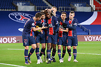 24th December 2020; Paris, France; French League 1 football, Paris St Germain versus Strasbourg;  Goal celebrations from TIMOTHEE PEMBELE PSG KYLIAN MBAPPE PSG  COLIN DAGBA PSG and MARCO VERRATTI PSG
