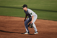 Augusta GreenJackets second baseman Cade Bunnell (8) on defense against the Charleston Boiled Peanuts at Joseph P. Riley, Jr. Park on June 26, 2021 in Charleston, South Carolina. (Brian Westerholt/Four Seam Images)