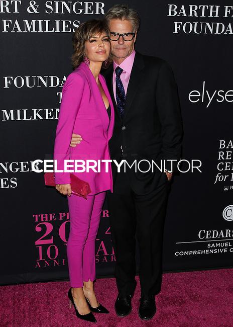SANTA MONICA, CA, USA - OCTOBER 18: Lisa Rinna, Harry Hamlin arrive at Elyse Walker's 10th Annual Pink Party held at Santa Monica Airport HANGAR:8 on October 18, 2014 in Santa Monica, California, United States. (Photo by Celebrity Monitor)