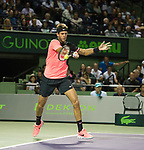 March 28 2018: Juan Martin del Potro (ARG) defeats Milos Raonic (CAN) by 5-7, 7-6 (1), 7-6 (3), at the Miami Open being played at Crandon Park Tennis Center in Miami, Key Biscayne, Florida. ©Karla Kinne/Tennisclix/CSM