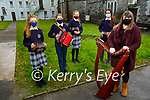 Members of the Castleisland Presentation secondary school 1st year Traditional music group practicing at the school on Friday.<br /> Front right: Deirdre O'Brien (Music teacher)<br /> Back l to r: Fiona McSweeney, Rachel Horgan, Deirdre Moynihan and Mairead Walsh.