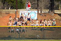 "The Davidson Wildcats students watch the game from the ""bleachers"" in right field during the game against the College of Charleston Cougars at Wilson Field on March 12, 2011 in Davidson, North Carolina.  The Wildcats defeated the Cougars 8-3.  Photo by Brian Westerholt / Four Seam Images"