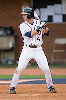 Reed Gragnani #4 of the Virginia Cavaliers at bat against the VCU Rams at the Charlottesville Regional of the 2010 College World Series at Davenport Field on June 4, 2010, in Charlottesville, Virginia.  The Cavaliers defeated the Rams 14-5.  Photo by Brian Westerholt / Four Seam Images