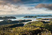 Whanganui Inlet on west coast at sunset, Nelson Region, West Coast, South Island, New Zealand