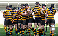 Tuesday 3rd March 2020 | RSA vs RBAI<br /> <br /> RBAI players celebrate taking the lead during the Ulster Schools' Cup Semi-Final between Royal School Armagh and RBAI at Kingspan Stadium, Ravenhill Park, Belfast, Northern Ireland. Photo by John Dickson / DICKSONDIGITAL