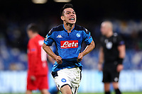 Hirving Lozano of SSC Napoli celebrates after scoring the goal of 1-1 for his side <br /> Napoli 05-11-2019 Stadio San Paolo <br /> Football Champions League 2019/2020 Group E<br /> SSC Napoli - FC Salzburg<br /> Photo Cesare Purini / Insidefoto