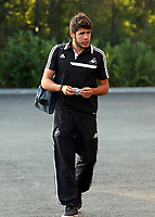 Wednesday 28 August 2013<br /> Pictured: Alejandro Pozuelo at the Swansea training ground.<br /> Re: Swansea City FC players and staff en route for their UEFA Europa League, play off round, 2nd leg, against Petrolul Ploiesti in Romania.