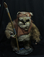 BNPS.co.uk (01202 558833)<br /> AdamPartridge/BNPS<br /> <br /> An Ewok figure from Star Wars<br /> <br /> A vast collection of 'weird and wonderful' memorabilia from a music venue that hosted early Beatles gigs has emerged for sale for close to £50,000.<br /> <br /> Lathom Hall in Liverpool was one of the best known clubs on the Merseybeat music scene in the late 1950s and early 1960s.<br /> <br /> Among their regular bands were the Beatles, although at that time they were known as the Silver Beets.<br /> <br /> Since those days the hall has adapted and is now an entertainment venue crammed full of pop culture memorabilia.