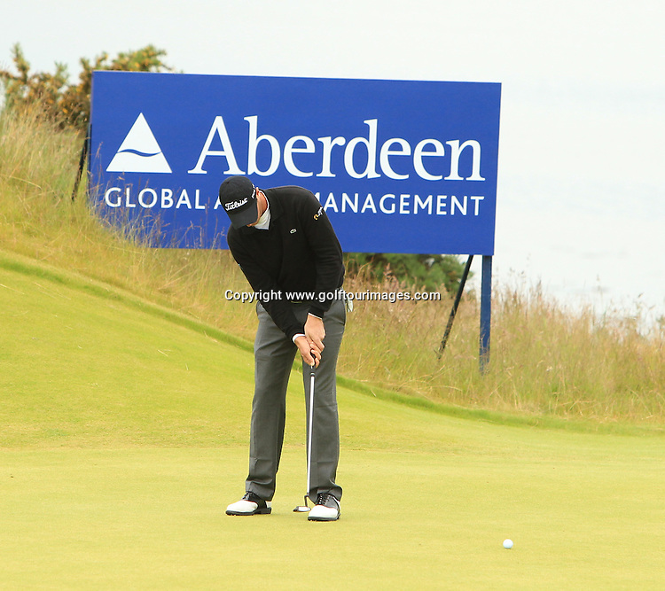 Nicholas Colsaerts during the second round of the 2012 Aberdeen Asset Management Scottish Open being played over the links at Castle Stuart, Inverness, Scotland from 12th to 14th July 2012:  Stuart Adams www.golftourimages.com:13th July 2012