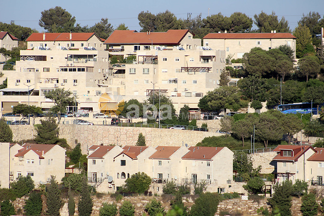 A general view shows the Israeli settlement of Efrat within the Gush Etzion settlement between Hebron and Bethlehem in the West Bank on June 30, 2020. Israel aims to begin a process of annexing West Bank settlements and the Jordan Valley from July 1. Photo by Mosab Shawer