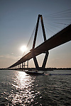 Arthur Ravenel Jr Bridge Charleston SC cooper river south carolina speed boat fishing boat center console