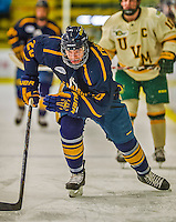 29 December 2013:  Canisius College Golden Griffins forward Cody Freeman, a Junior from Toronto, Ontario, in first period action against the University of Vermont Catamounts at Gutterson Fieldhouse in Burlington, Vermont. The Catamounts defeated the Golden Griffins 6-2 in the 2013 Sheraton/TD Bank Catamount Cup NCAA Hockey Tournament. Mandatory Credit: Ed Wolfstein Photo *** RAW (NEF) Image File Available ***