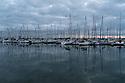 Cherbourg - Normandia, 31 agosto 2020. Il porto da diporto all'alba.