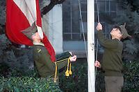 """- military school """"Teuliè"""" in Milan, scientific and  classic high school, rising flag ceremony....- scuola militare """"Teuliè"""" di Milano, liceo classico e scientifico, cerimonia dell'alzabandiera"""