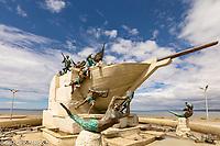 Chile, Punta Arenas, tribute to Ferdinand Magellan monument