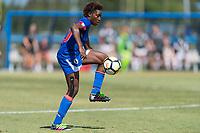 Bradenton, FL - Sunday, June 12, 2018: Flero Surpris prior to a U-17 Women's Championship 3rd place match between Canada and Haiti at IMG Academy. Canada defeated Haiti 2-1.