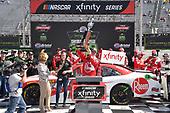 #18: Ryan Preece, Joe Gibbs Racing, Toyota Camry Rheem, celebrates in Victory Lane.
