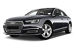 Stock pictures of low aggressive front three quarter view of 2017 Audi A4 Sport 4 Door Sedan Low Aggressive