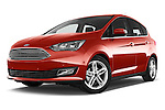 Stock pictures of low aggressive front three quarter view of 2015 Ford C Max Titanium 5 Door Mini Mpv Low Aggressive