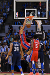 Ben Simmons of 76ers (L) dunks during the NBA China Games 2018 match between Dallas Mavericks and Philadelphia 76ers at Universiade Center on October 08 2018 in Shenzhen, China. Photo by Marcio Rodrigo Machado / Power Sport Images