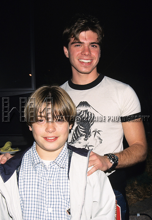 """Andy and Matthew Lawrence pictured at Walt Disney's opening of """"Asia"""" in Orlando, Florida on March 18, 1999."""