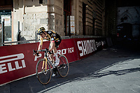 Last year's champion Wout van Aert (BEL/Jumbo-Visma) finishing 4th at the Piazza Del Campo<br /> <br /> 15th Strade Bianche 2021<br /> ME (1.UWT)<br /> 1 day race from Siena to Siena (ITA/184km)<br /> <br /> ©kramon