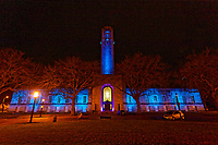 2021 03 26 Guildhall has been illuminated in blue, Swansea, Wales, UK.