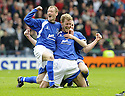 12/04/2008    Copyright Pic: James Stewart.File Name : sct_jspa17_qots_v_aberdeen.SEAN O'CONNOR (CENTRE) IS GONGRATULATED BY JOHN STEWART AND PAUL BURNS AFTER HE SCORES THE THIRD FOR QUEEN OF THE SOUTH.James Stewart Photo Agency 19 Carronlea Drive, Falkirk. FK2 8DN      Vat Reg No. 607 6932 25.Studio      : +44 (0)1324 611191 .Mobile      : +44 (0)7721 416997.E-mail  :  jim@jspa.co.uk.If you require further information then contact Jim Stewart on any of the numbers above........