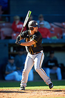 Bethune-Cookman Wildcats designated hitter Clay Middleton (9) at bat during a game against the Wisconsin-Milwaukee Panthers on February 26, 2016 at Chain of Lakes Stadium in Winter Haven, Florida.  Wisconsin-Milwaukee defeated Bethune-Cookman 11-0.  (Mike Janes/Four Seam Images)