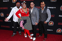 """HOLLYWOOD, LOS ANGELES, CA, USA - MARCH 20: La Santa Cecilia at the Los Angeles Premiere Of Pantelion Films And Participant Media's """"Cesar Chavez"""" held at TCL Chinese Theatre on March 20, 2014 in Hollywood, Los Angeles, California, United States. (Photo by David Acosta/Celebrity Monitor)"""