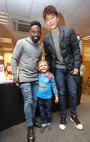 Pictured: Nathan Dyer and Ki Sung Yueng Tuesday 06 December 2016<br />Re: Swansea City FC Christmas Party at the Liberty Stadium, Wales, UK