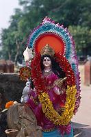 Indien, Kalkutta (Kolkata), Laxmi-Heiligtum am Judge Ghat
