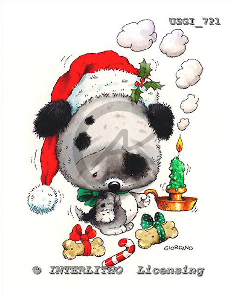 GIORDANO, CHRISTMAS ANIMALS, WEIHNACHTEN TIERE, NAVIDAD ANIMALES, paintings+++++,USGI721,#XA#