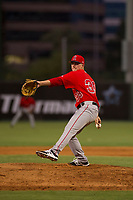 AZL Angels relief pitcher Sam Fuller (39) delivers a pitch during a game against the AZL Giants on July 9, 2017 at Diablo Stadium in Tempe, Arizona. AZL Giants defeated the AZL Angels 8-4. (Zachary Lucy/Four Seam Images)