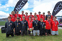 Mainland boys under-16 champions. 2019 National Age Group Tournament football awards ceremony at Memorial Park in Petone, Wellington, New Zealand on Sunday, 15 December 2019. Photo: Dave Lintott / lintottphoto.co.nz