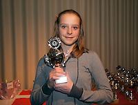 6-12-09, Almere, Tennis, REAAL winterjeugdcircuit, Masters,  Prijsuitrijking,