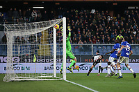 Cristiano Ronaldo of Juventus climbs above the Sampdoria defence to head the side into a 2-1lead during the Serie A match at Luigi Ferraris, Genoa. Picture date: 18th December 2019. Picture credit should read: Jonathan Moscrop/Sportimage PUBLICATIONxNOTxINxUK SPI-0378-0021<br /> Sampdoria - Juventus  <br /> Photo Jonathan Moscrop / Sportimage / Imago / Insidefoto