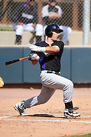 Colorado Rockies minor league infielder Jordan Ribera #45 during an instructional league intrasquad game at the Salt River Flats Complex on October 5, 2012 in Scottsdale, Arizona.  (Mike Janes/Four Seam Images)